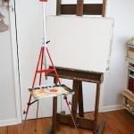 Mary Whyte Red Steel Tripod Easel