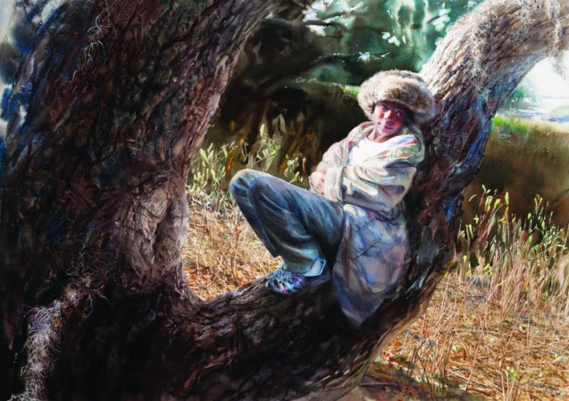 Mary Whyte Figurative watercolor paintings #artpeople